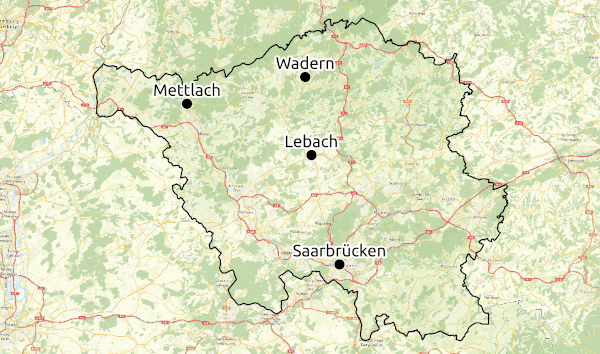 Karte Region Saarland © Open Street Map - CC-BY-SA 2.0